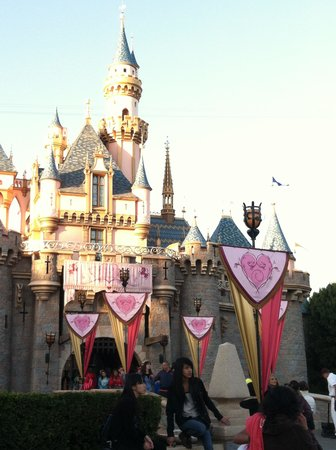Red Lion Hotel Anaheim Resort : Castle ready for Valentines Day :)