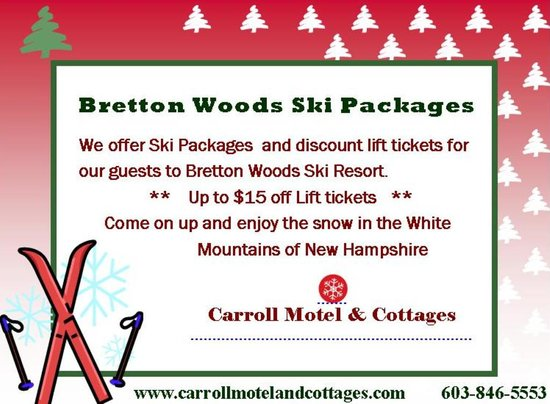 Carroll Motel & Cottages : Bretton Woods Ski Packages