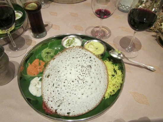 Dakshin : The Appam pancake which was really good with the sauces
