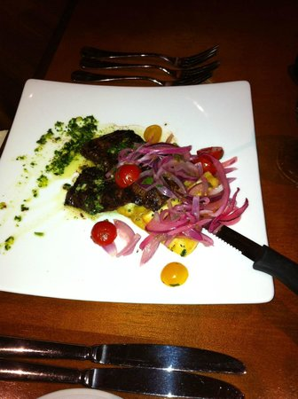 Bistro Ten Zero One: Grilled Skirt Steak with Fried Yucca