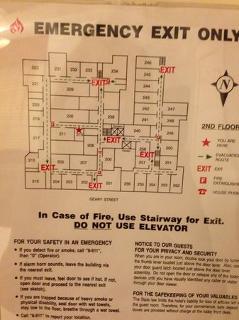 Handlery Union Square Hotel : The floor layout of 'historic' building- check the small room sizes !!!