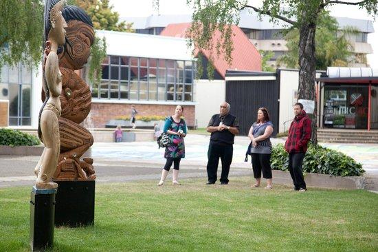 Waimarama Maori Tours : Te Mata Peak TourThe - Totems/Pou at Civic Square