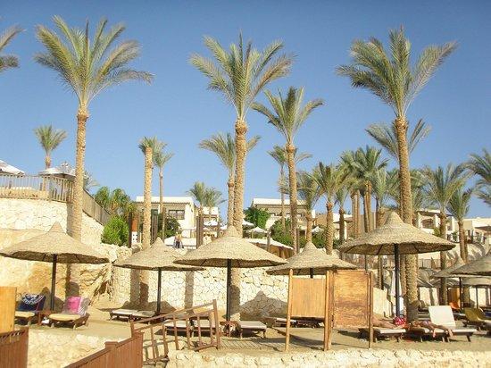 The Grand Hotel Sharm El Sheikh: Зонтики и пальмы на пляже