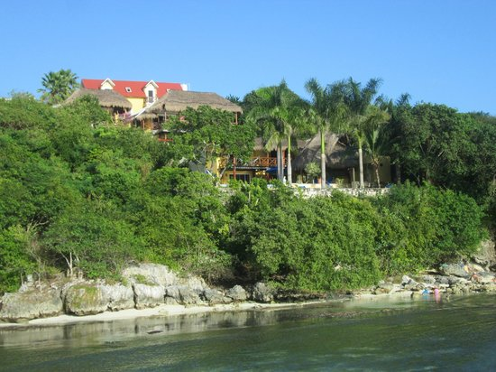 Hotel La Joya, taken from a nearby dock
