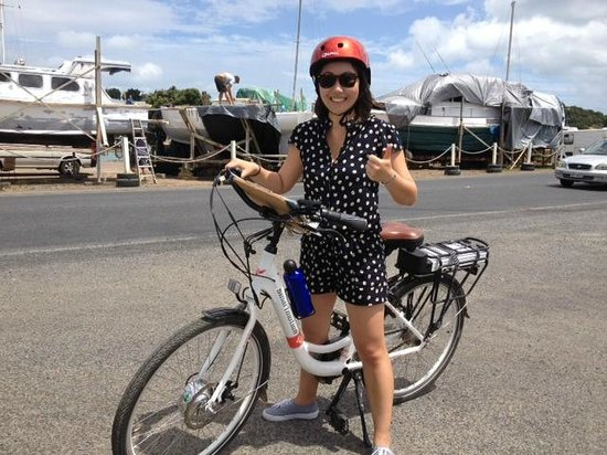 Waiheke Island, Nya Zeeland: Haven't ridden a bike since I was 10 years old