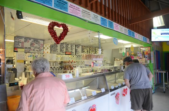 Joe's  Eats and Sweets: The inside of Joe's Eats and Sweets