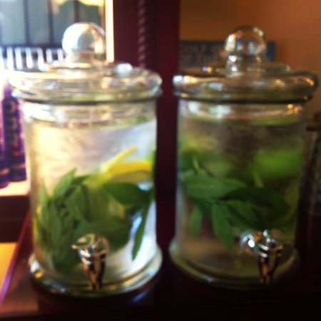 Eco Chic Spa: Fresh Organic Mint from the Whistler Farmers market makes the most amazing spa water