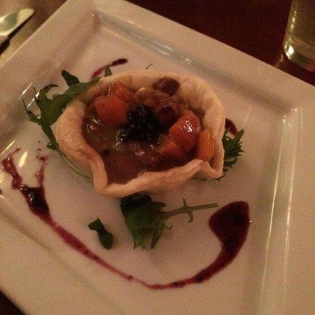 Salmon n' Bannock: Bison Tart