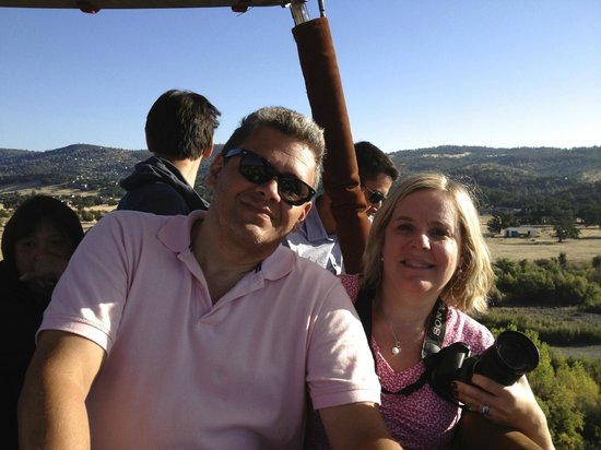 Wine Country Balloons: our picture from the balloon