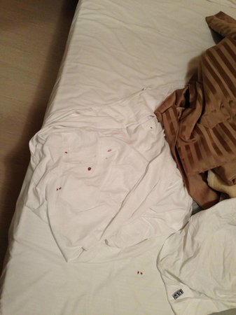 University Hotel: lovely blood stains