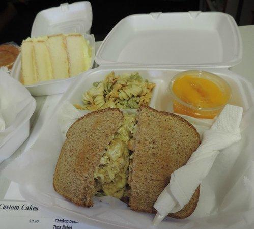 Donna's Delicious Delights: Shrimp-crab salad sandwich, lemon cake ...