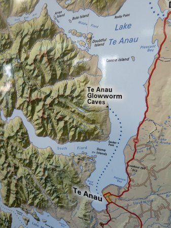 Te Anau Glowworm Caves: The route