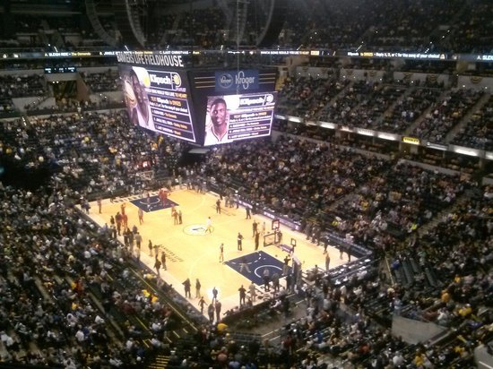 Bankers Life Fieldhouse : Back row upper level corner