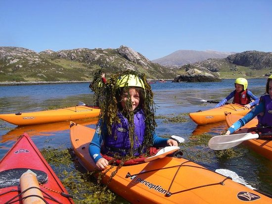 Ridgway Adventure - One Day Activities: Playing in the seaweed with a younger team