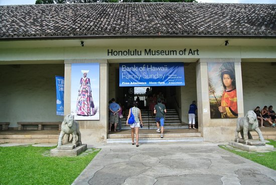 Honolulu Museum of Art : 建物周辺は落ち着いていて素敵。