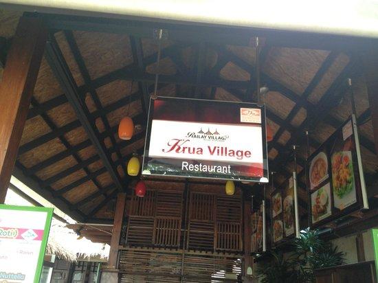 Railay Village Resort: Hotel's restaurant