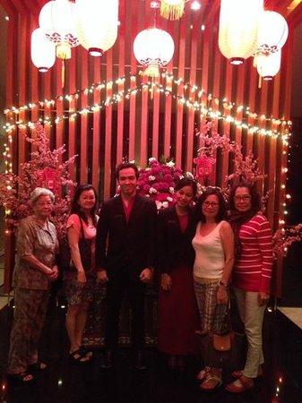 Padma Hotel Bandung: my family and Padma staff Michel aand Vita