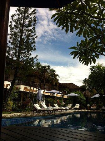 Bali Reski Asih Cottages : Pool area