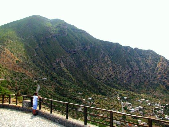 Salina Island: Overlooking Pollara, Isola Di Salin- stunning panorama, nothing but the silence of nature