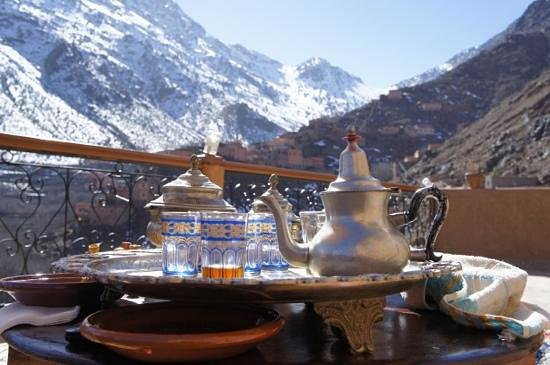 Imlil Authentic Toubkal Lodge : Tea time!