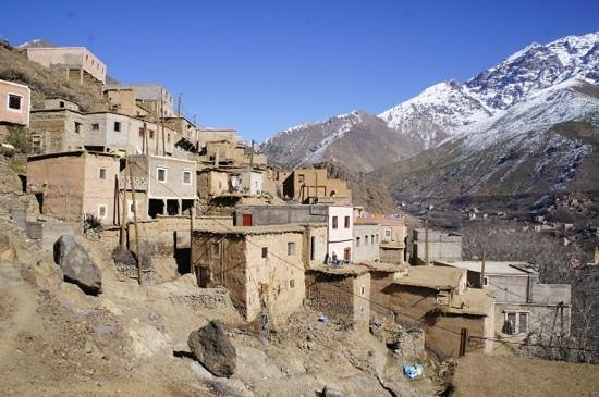 Imlil Authentic Toubkal Lodge : The sunny side of town.