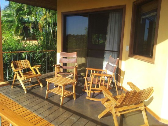 Hotel Luna Azul: La terrasse de notre bungalows