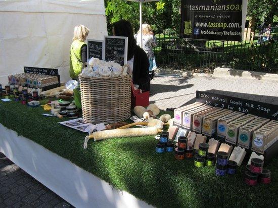 Salamanca Market: Hand made soaps