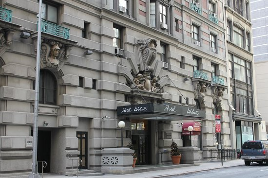 the entrance picture of wolcott hotel new york city. Black Bedroom Furniture Sets. Home Design Ideas