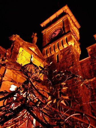 Craig-y-Nos Castle : Facade at night