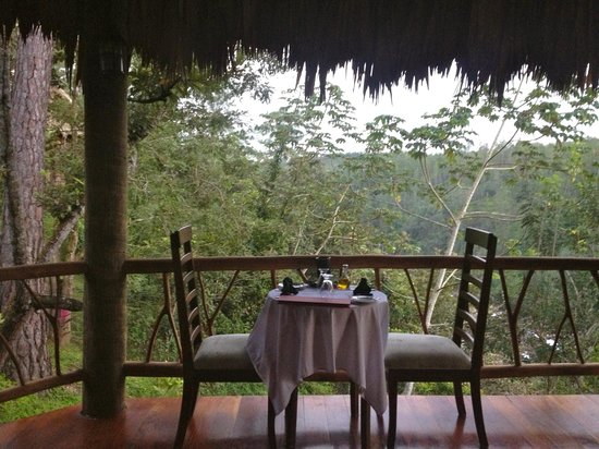 Gaia Riverlodge : breakfast outside