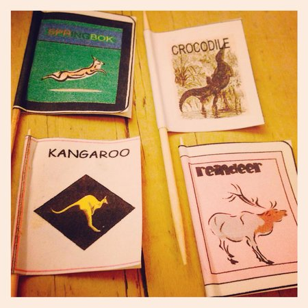 The Sausage Tree: Kangaroo, Springbok, Reindeer and Crocodile - just a few choices from the menu!