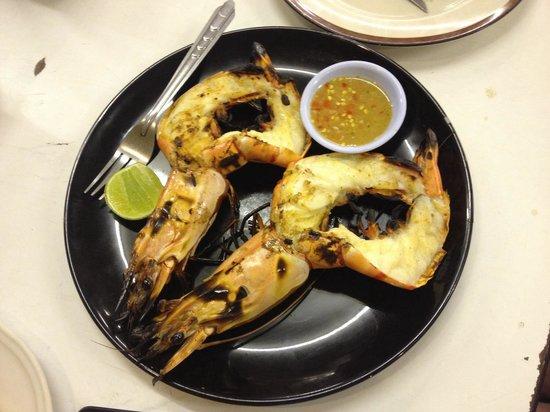 Nong Bua Seafood: Креветки гриль