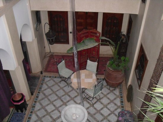 Riad Dubai: view from first floor to out room