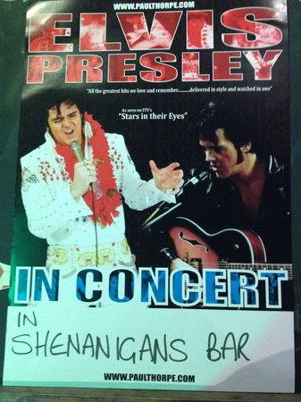 The Red Cow Restaurant & Sports Lounge: Elvis in concert at The Red Cow and Shenanigans