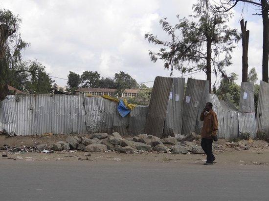 Nomad Palace Hotel Nairobi: Улица напротив отеля
