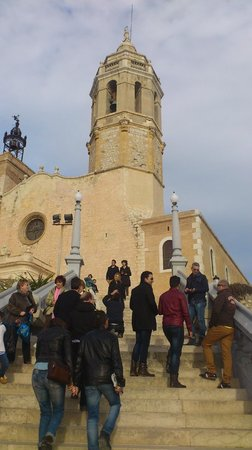 La Playa de Sitges: Church on the waterfront