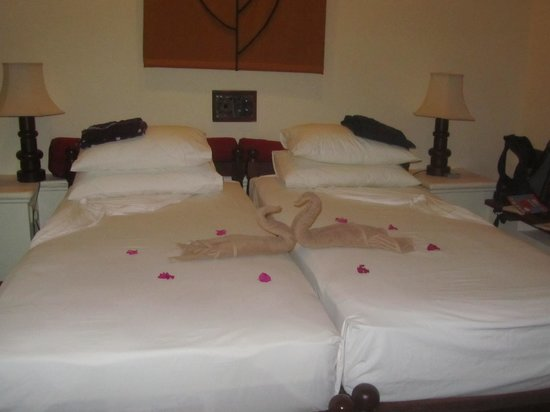 Hotel Sigiriya: nice touch with towels