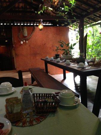 Pousada Naturalia: Desayunar en un ambiente acogedor rodeado de naturaleza