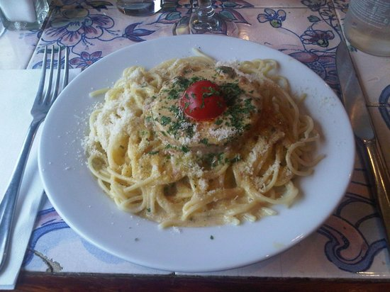 Barbara: Spaghettis au Foie Gras