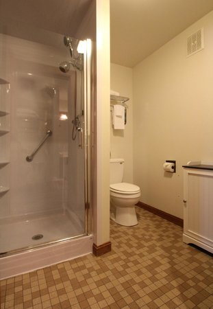 Jack Daniels Motor Inn: Guestroom Shower and Bathroom
