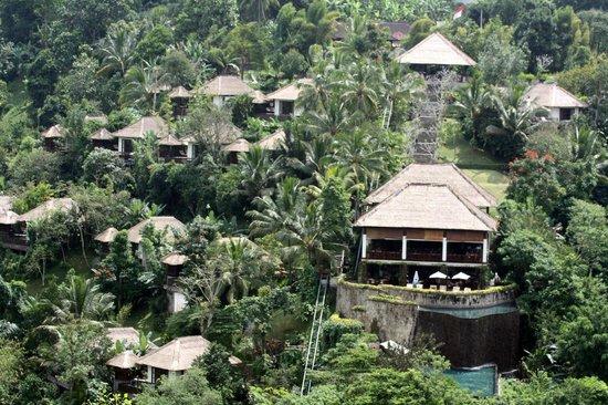 Hanging Gardens of Bali: Vom gegenüberliegenden Hang