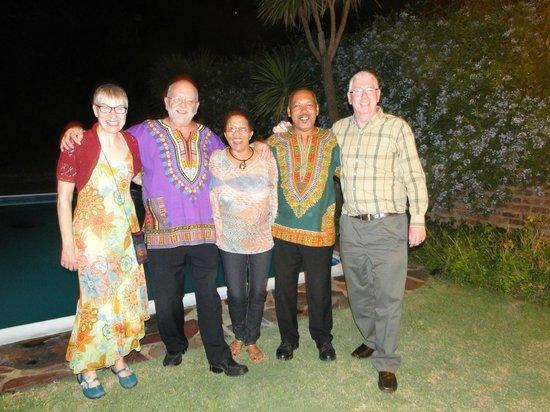 Magic Moments in Oudtshoorn: Carol, Barry,Sissy,Joey,Steve