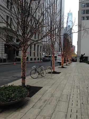 AKA Central Park: Vista da rua assim que sai do hotel. Logo na esquina é a fifth  avenue