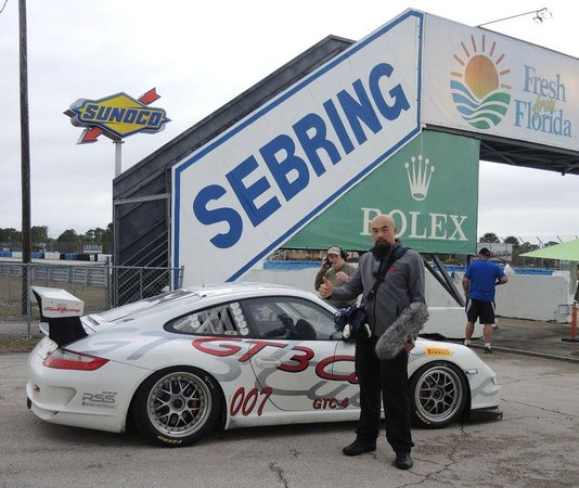 Sebring International Raceway: Recording sounds of Porsche race cars