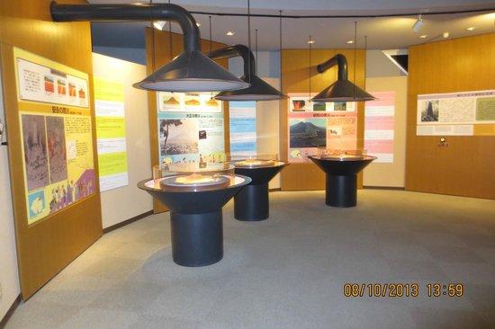 display in Sakurajima visitor center