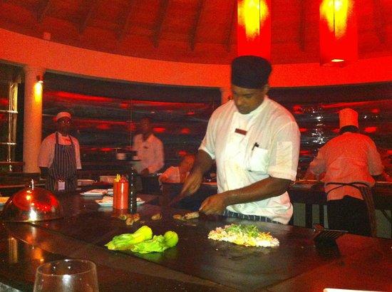 Hilton Seychelles Labriz Resort & Spa : Le restaurant TEPANIYAKI