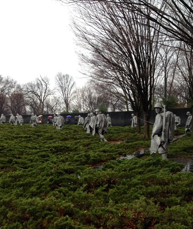 Korean War Veterans Memorial: Side view
