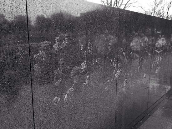 Korean War Veterans Memorial : The wall