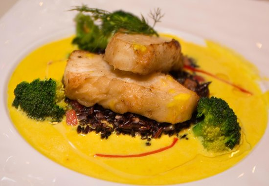 Bruno's Restaurant & Wine Bar : This was my main course. A white fish in yellow sauce.