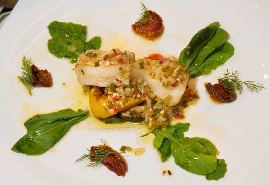 Bruno's Restaurant & Wine Bar : My starter, the Snow Fish with Sun Dried Tomatoes